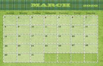 march 2019 calendar 11x17 by drawn to learn teachers pay teachers