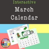 FREE! Interactive March Calendar (St. Patrick's Day Theme)