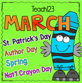 Sub Plans Kindergarten 1st Grade March