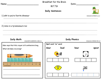 March 2nd Grade Common Core Morning Bell Work