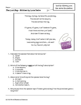 March 3rd - Close Read Comprehension Passages w/Complex Text Dependent Questions