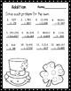 March 3rd Grade Math No Prep Print and Go