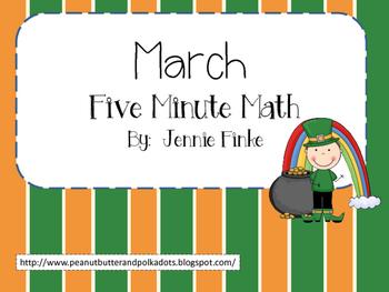 March 5 Minute Math (Common Core Aligned)