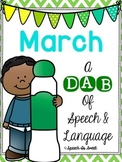 March: A Dab of Speech and Language
