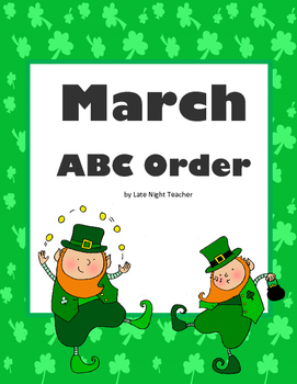 March ABC Order