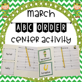 March ABC Order Center