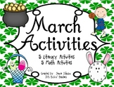 March Activites- St. Patrick's Day, Easter, Basketball