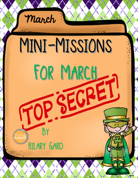 Morning Meeting Missions Critical Thinking activities to share for March!