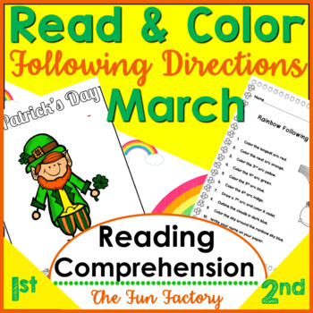 Read and Follow Directions ~March~ NO PREP, JUST PRINT! 1st & 2nd Grades