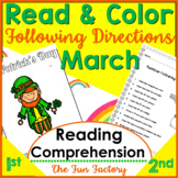 Read and Follow Directions Activities, March Leprechaun and Rainbow 1st & 2nd