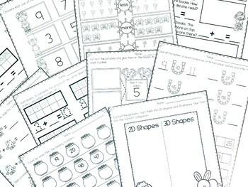 March No Prep Packet for Kindergarten