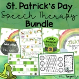 March Activities for Speech Therapy BUNDLE!!
