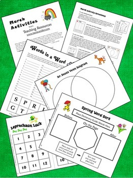 March Learning Fun! Lessons, Activities, and Printables (Upper Elementary)
