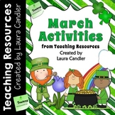 March Activities and Printables for St. Patrick's Day, Pi