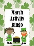March Activity Bingo