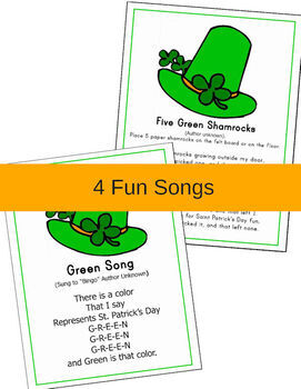 March Activity Pages for PreK-Kindergarten (St. Patrick's Day themed)