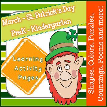 March Learning for PreK - Kindergarten