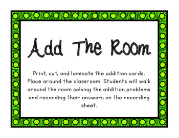 March Add and Subtract the Room