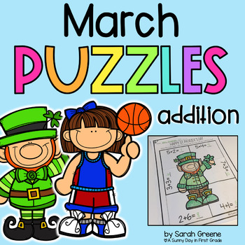March Addition Puzzles