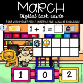 March Addition to 10 using a ten frame (Lion & Lamb theme)