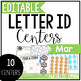 March Alphabet Centers: Editable Letter ID Centers