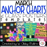 March Anchor Charts and Class Poster Templates