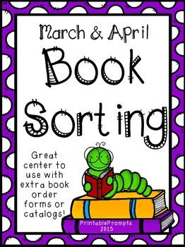 March & April Book Sorting Center Freebie!