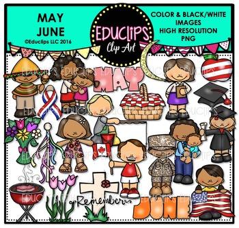 May June Clip Art Bundle {Educlips Clipart}