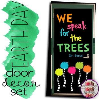 March April Door Decoration Set Read Across America Earth Day Lorax
