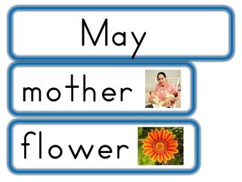 March, April and May Word Walls