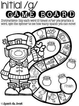 March Articulation Game Boards {Print and Go!}