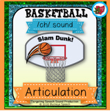 March Basketball Articulation Activity for Speech Therapy - Ch Sound!
