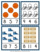 March Basketball Count and Clip Cards Numbers 1-12