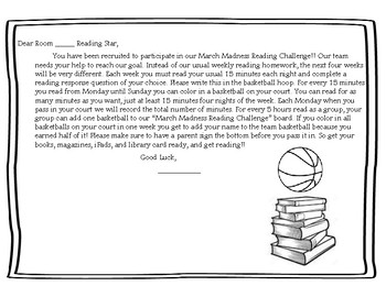March Basketball Reading Challenge