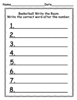 March Basketball Write the Room