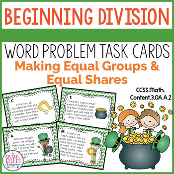 March Division Word Problem Task Cards