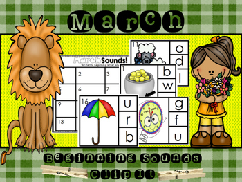March Beginning Sounds Clip It