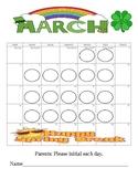 March Behavior Calendar