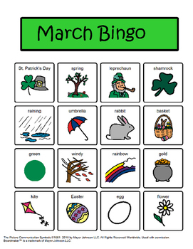 March Bingo