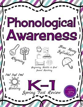March Blog Hop- K-1 Phonological Awareness Spring Test Review