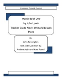 March Book One by John Lewis Teacher Guide Novel Unit and Lesson Plans
