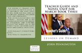 March Book Three John Lewis Teacher's Guide Novel Unit National Book Award