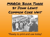 March Book Three by John Lewis, Common Core Unit