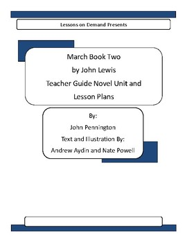 March Book Two by John Lewis Teacher Guide Novel Unit and