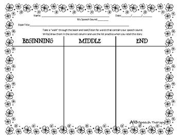 March Book Walk Worksheet