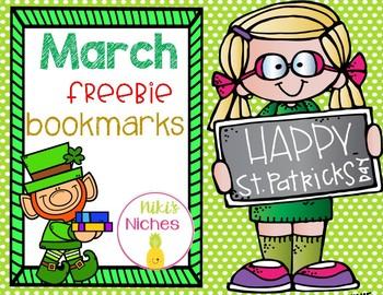 March Bookmark Freebie