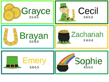 March Bookmarks with Reading Level