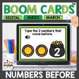March Boom Cards Numbers Before