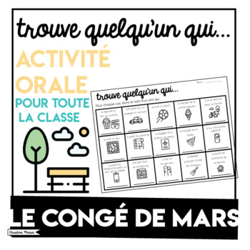 March Break - Conge de mars Activity