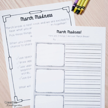 March Break and Spring Break Writing Prompt